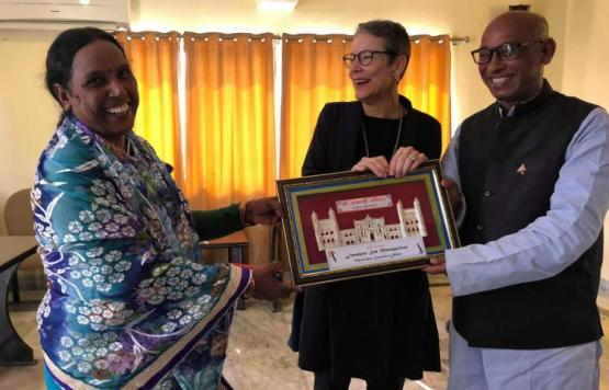 Meeting Ms Elisabeth von Capeller, Swiss Ambassador to Nepal